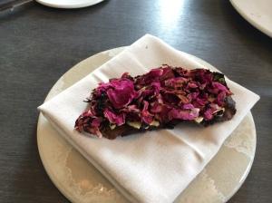 Flatbread with wild roses